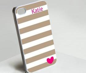 Love Chocolate Monogram - Iphone case for Iphone 4 case, Iphone 4s case, Iphone 5 case hard case