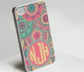 Njh Clasic Monogram - Iphone case for Iphone 4 case, Iphone 4s case, Iphone 5 case hard case