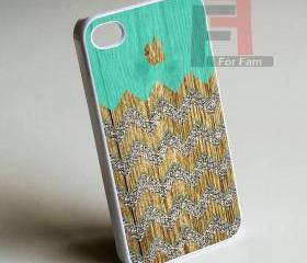 Aple Wood Monogram - Iphone case for Iphone 4 case, Iphone 4s case, Iphone 5 case hard case