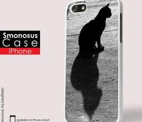 Cat blenk stare - Iphone case for Iphone 4 case, Iphone 4s case, Iphone 5 case hard case