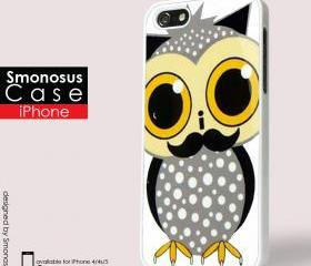 Owl design - Iphone case for Iphone 4 case, Iphone 4s case, Iphone 5 case hard case