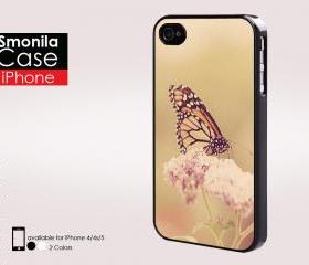 Pretty cool butterfly design - Iphone case for Iphone 4 case, Iphone 4s case, Iphone 5 case hard case