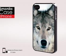 Wolf in grey - Iphone case for Iphone 4 case, Iphone 4s case, Iphone 5 case hard case