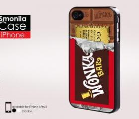 Willy wonka golden ticket - Iphone case for Iphone 4 case, Iphone 4s case, Iphone 5 case hard case