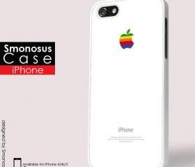 White background iphone logo - Iphone case for Iphone 4 case, Iphone 4s case, Iphone 5 case hard case