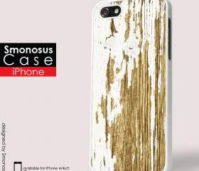 Design Wood and white background iphone logo - Iphone case for Iphone 4 case, Iphone 4s case, Iphone 5 case hard case